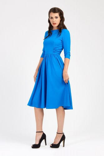 1940s shirred dress at Zoe Vine