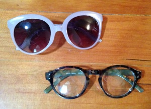 1940s style sunglasses and eyeglasses I found at Forever21