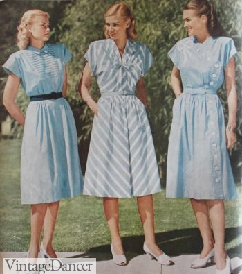 1940s dress style, the dolman sleeve of 1947