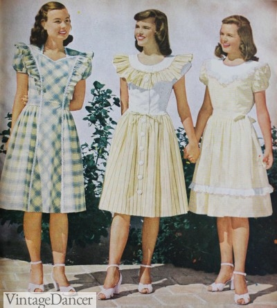 vintage teenage fashion 1910s1950s