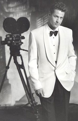 1940s, Mr. Bogart looking sharp in a white dinner jacket