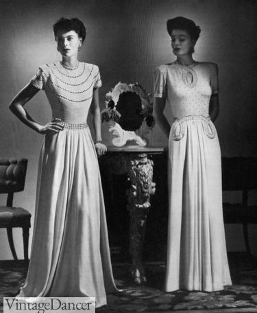 1941 evening gowns with sparkle