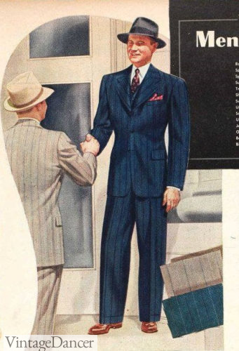1941 men's blue pinstripe suit