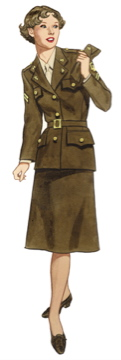1940s WAC uniform women
