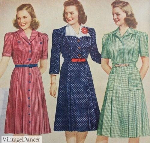 1942 day dresses