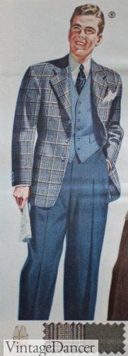 1940s mens casual sport attire, 1942