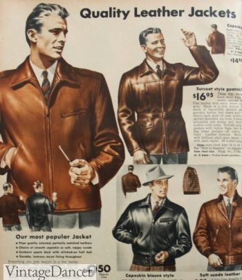 1940s men's leather jackets