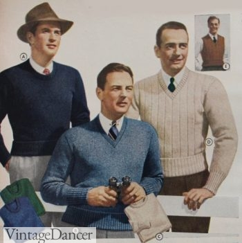 1942-43 Men's fall sweaters fashion