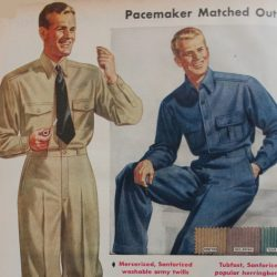 1940s Men's Work Clothes & Uniforms
