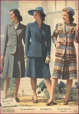 1940s women's suits, 1942-43