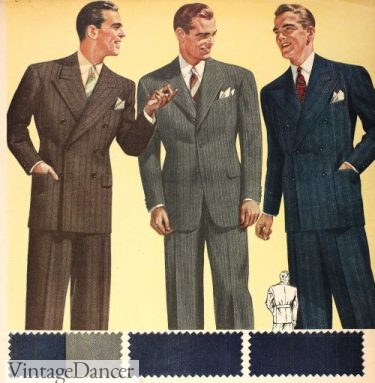 WW2 mens fashion 1942s mens suits