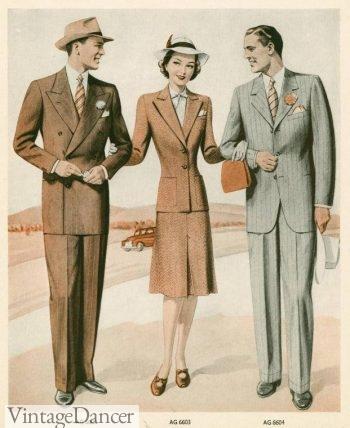 1942 men's suit fashion for spring