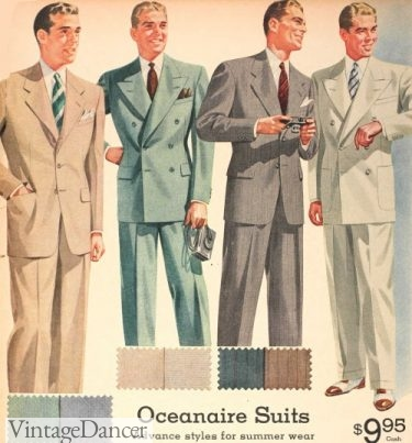 1942 mens summer suits WW2 mens fashion