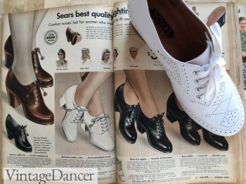 1940s white Claire oxfords placed over my 1942 catalog