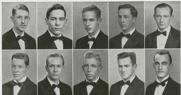 1943 men's collage hairstyles