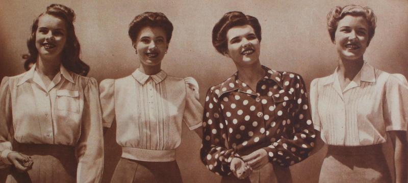 1943 blouses tops shirts at VintageDancer