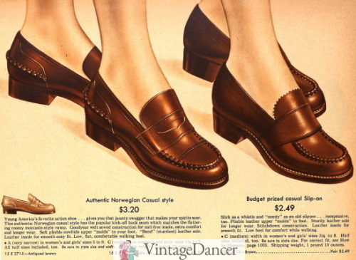 1943 penny loafers