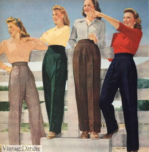 1940s women's pants slacks trousers
