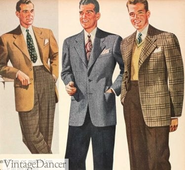 1943 dress pants with sport coats mens outfits 40s