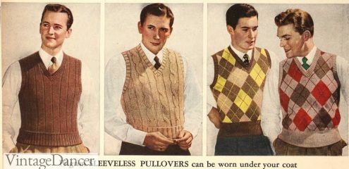 1943 sweater vests jumpers pullovers mens