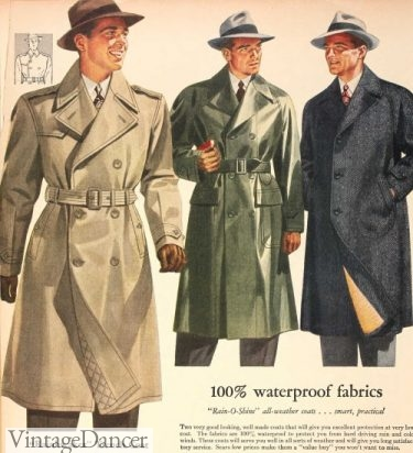 1943 trench coats, military inspired