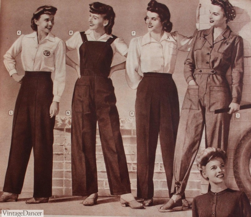 1943 Working Pants, Overalls, and Coveralls