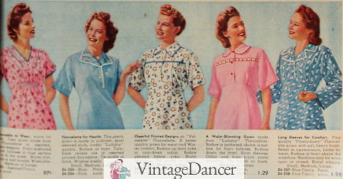 1944 flannel nightgowns