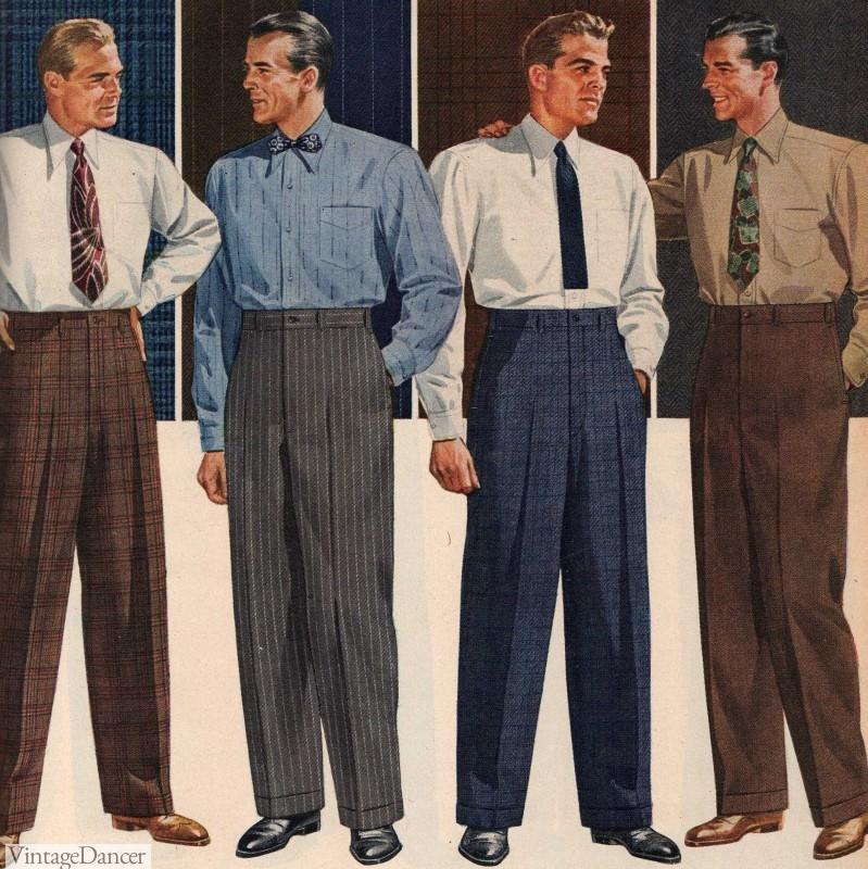 1940s Men's dress slacks, trousers or pants 1944
