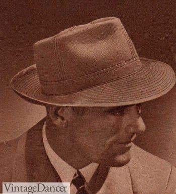 1944 cloth fedora bucket hat