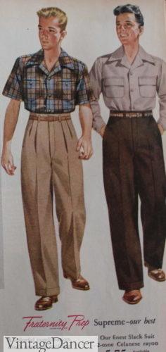 1940s Men's Outfit Inspiration | Costume Ideas Casual Basics  AT vintagedancer.com