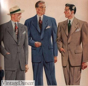 1940s mens clothing: 1944 suits