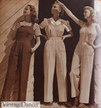 1940s casual overalls, 1944