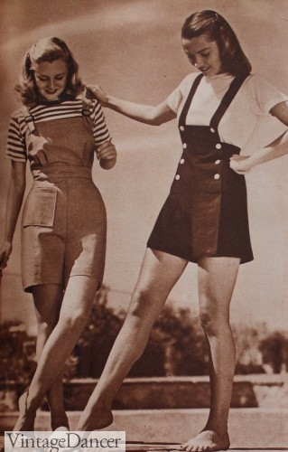 vintage playsuits 1940s