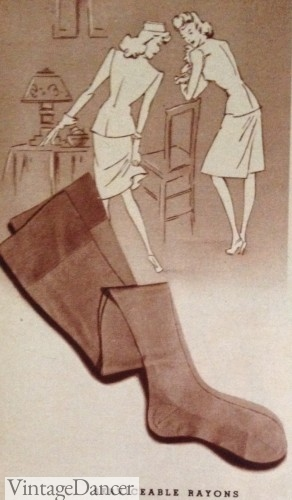 1940s stockings for work