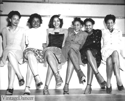 1944 Ladies in various stockings hues attening a party at the Sandpoint Naval Air Station