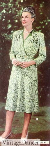 1945 wrap top dress