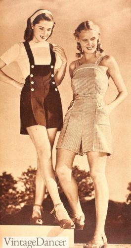 1945 shortalls summer playsuits