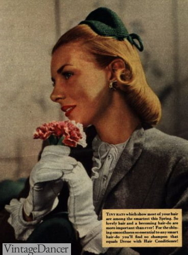 1946 the Gibson roll or gibson tuck hairstyle