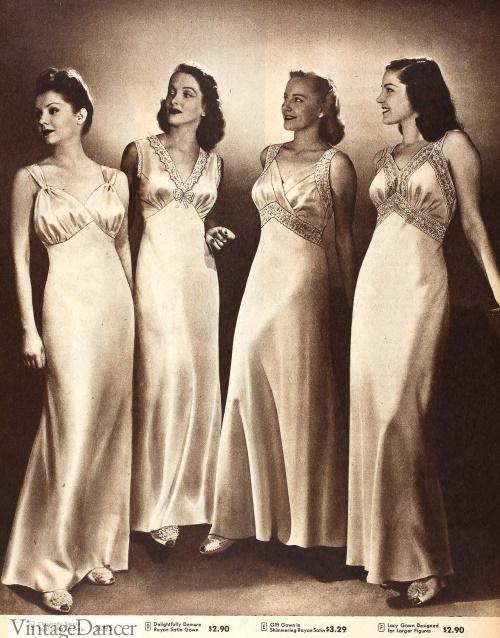 1946 slip like nightgowns