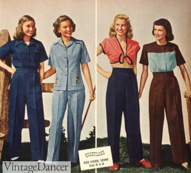 1946 casual slacksuits and playwear for teens