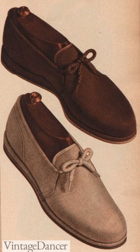 1940s mens fabric shoes
