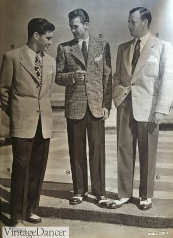 1947 Bold Look Sport Coats and Contrasting Pants