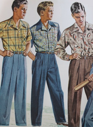 1940s Menu0026#39;s Casual Clothing- Shirts Trousers Pullover Vests