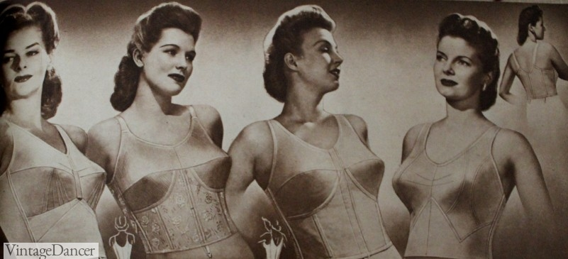 1940s longline bra