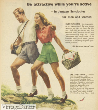 1948, going on a picnic wearing loafers