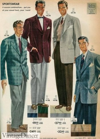 Men's 1949 The Bold Look with colorful sprort coats