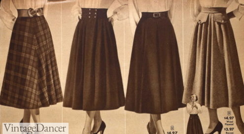 1949 classic skirts updated with large pockets and waistbands
