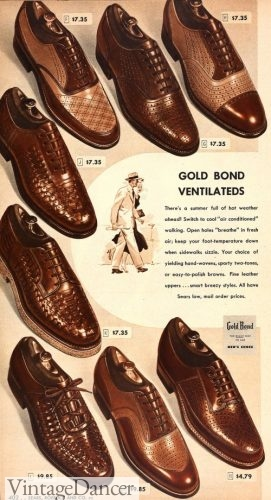 1949 woven leather shoes