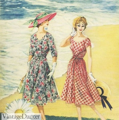 1950s summer dress Nylon ad