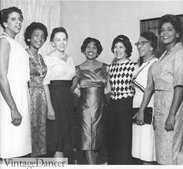 North Carolina Mutual cocktail hour 1950s black women fashion